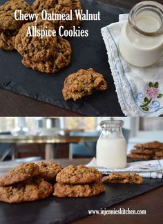 Forget the fuss of ornate holiday cookies. These Chewy Oatmeal Walnut Allspice Cookies will make any day feel like a special occasion. Favorite Cookie Recipe, My Favorite Food, Brownie Recipes, Cookie Recipes, Pie Recipes, Cracked Cookies, Best Pie, Oatmeal Raisin Cookies, Baking Recipes
