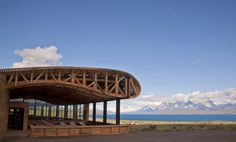 Hotel Tierra Patagonia; Cazu Zegers Arquitectura - Chile.  The roof structure over the porch compliments the beautiful open view of the landscape.