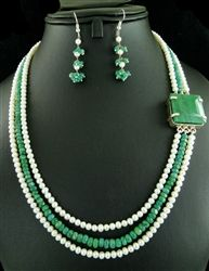 pearl emerald necklace