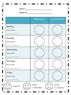 Check In Out Binder Positive Behavior Management System School Counseling Pinterest