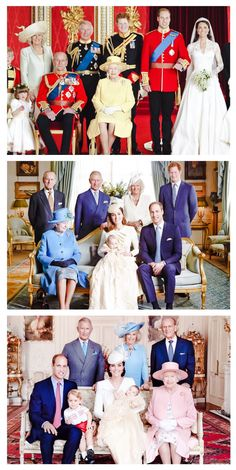 William and Catherine's Wedding Photo and the Christening of both George and Charlotte