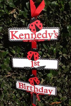 Lady Bug Party Sign