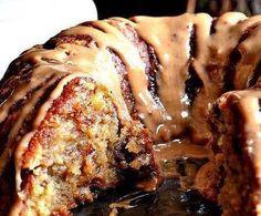 Caramel Drizzle Pound Cake