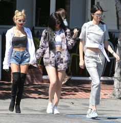 Kendall Jenner, Kylie Jenner, and Pia Mia = the ultimate crop-top-loving crew.