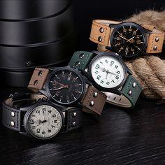 Cheap quartz watch women, Buy Quality quartz rubber watch directly from China quartz decor Suppliers: Vintage Classic Men's Date Leather Strap Sport Quartz WatchRetrò classico per gli uomini la Cintura di qu
