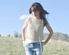 Easy Knit Summer Top Pattern Frees