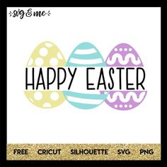 Love this Happy Easter split monogram with pastel Easter eggs that can easily be customized however you'd like. For example, delete the Easter Fonts, Easter Bunny Colouring, Easter Wallpaper, Easter Peeps, Web Design, Branding, Cricut Creations, Layout, Graphic