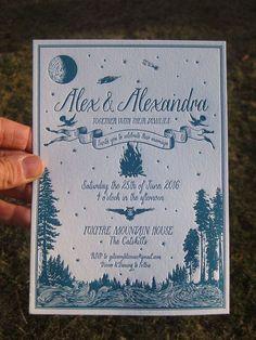 stunning wes anderson inspired letterpress wedding invitations