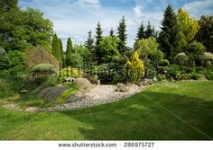 Stock Images similar to ID 381865978 - beautiful spring garden design ...