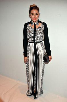 #LaurenConrad rocks a cutout neckline backstage at @Rebecca Minkoff #MBFW #Justfab #Fashionweek