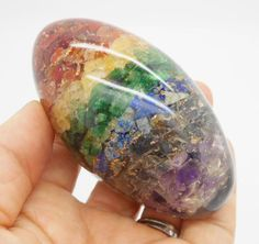 "Chakra Orgone Shiva Lingam Gemstone Egg Reiki Crystal Healing 3.20"""