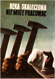 Tadeusz Trepkowski, 1937 A wounded hand cannot work Historic Posters, Laurent Durieux, Late Modernism, Poland People, Talk To The Hand, Polish Posters, Garage Art, Communication Art, Political Art