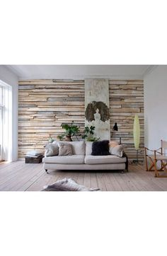 Free shipping and returns on Wallpops Whitewashed Wood Wall Mural at…