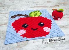 Alice the Apple C2C Blanket Free crochet pattern