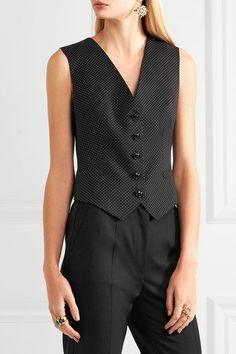 Dolce & Gabbana - Polka-dot Wool And Satin Vest - Black - IT42