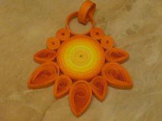 sun pendant - Quilling Cafe