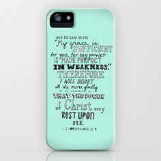 2 Corinthians 12:9 iPhone Case