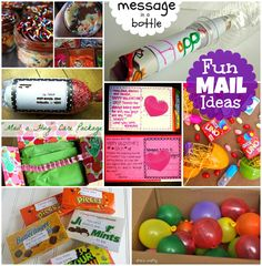 Fun Things to Send in the Mail and fun ways to send mail! Pen pal ideas