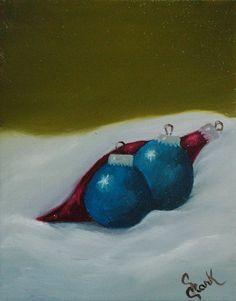 """something Christmas-y     8"""" x 10"""" oil"""