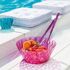 Sztućce do sałaty rożowe Crystal KZ-3649507