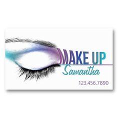 Make up artist #business card #Makeup artist #card #design