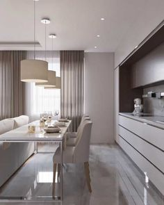 Luxury Small Kitchen - Regardless of whether you're planning for a move to another house or you essentially need to a kitchen redesign, these astounding kitchen Minimalist But Luxurious Kitchen Design thoughts will prove to be useful. Kitchen Room Design, Modern Kitchen Design, Dining Room Design, Home Decor Kitchen, Interior Design Kitchen, Kitchen Designs, Dining Area, Kitchen Art, Design Room
