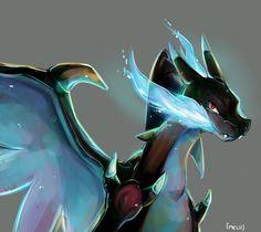 Mega Charizard X by MeluuArts