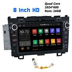 JOYING 8 Inch 1024600 Android Kitkat Quad Core Car Stereo for Honda CR-V 2007 2008 2009 2010 2011 2012 in Dash Hd Capacitive Touch Screen Car DVD Player GPS Navigation System Radio Head Unit Autoradio Support Bluetooth/sd/usb/steering-wheel/fm/ Car Tracking Device, Gps Tracking, Android Radio, Android 4, Wireless Headphones For Tv, Wireless Security System, Mirror Link, Head Unit