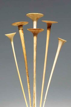 Congo | 6 hairpins from the Mangbetu people; ivory || 2'585€ ~ sold (June '03)