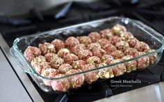 Greek Meatballs. •1 lb ground beef   •1 lb ground lamb   •1 egg   •zest of 1 lemon   •2 teaspoons dried oregano   •1 teaspoon granulated garlic   •1 tablespoon dried onion flakes   •2 tablespoons fresh mint, minced   •1/4 cup feta cheese (optional)   •salt & pepper
