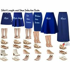 Your Essential Skirt Length and Shoe Selection Guide - Inside Out Style I used to wear these with pencil skirts every day student teaching. Mode Outfits, Fashion Outfits, Womens Fashion, Fashion Tips, Modest Fashion, Fashion Ideas, Dress Fashion, Modest Clothing, Formal Fashion