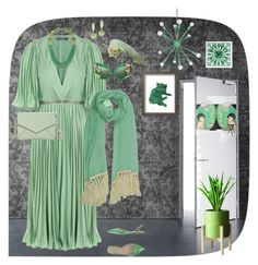 """""""Untitled #106"""" by sarahrockwell on Polyvore featuring Halston Heritage, Kate Spade, Dolce&Gabbana, Philip Treacy, Forever 21 and Milton & King"""