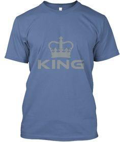 King Denim Blue T-Shirt Front