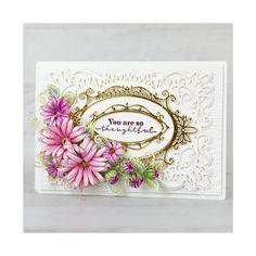 Card Making Kits, Card Making Tutorials, Heartfelt Creations Cards, Rose Vines, Handmade Birthday Cards, Handmade Cards, Stampin Up Christmas, Card Kit, Flower Shape