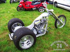 All photos: Motorcycle 74 Custom Trikes, Custom Choppers, Custom Harleys, Custom Motorcycles, Euro, Harley Davidson Trike, Dirt Bike Girl, Quad Bike, Motorcycles