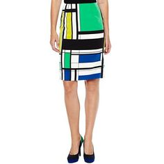 Worthington® Printed Pencil Skirt - jcpenney
