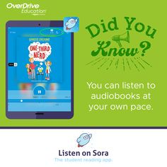 Discover Sora, the student reading app.   Educators can discover all that Sora has to offer with a 60-day free trial and access to 100+ Juvenile and Young Adult titles in three easy step.