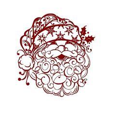 Weihnachten Aufkleber schöne Weihnachtsmann von empressivedesigns