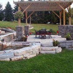 Backyard Stone Patio Ideas   Large And Beautiful Photos. Photo To Select  Backyard Stone Patio Ideas