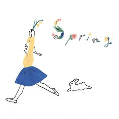 day Spring I suddenly felt that spring has. - Jumping like a Bunny Bunny Tattoos, Rabbit Tattoos, Cute Illustration, Character Illustration, Rabbit Art, Honey Bunny, Bunny Art, Japanese Artists, Cute Drawings