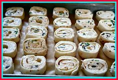 Tortilla roll-ups. Great recipe.
