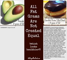 All Fat Grams Not Created Equal from 100 Days of #RealFood