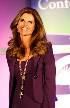 Maria Shriver, journalist.  At the Women's Conference in 2008. Love the purple!
