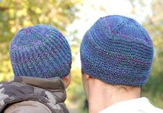 Woolly Wormhead Father & Son Beanies Knitting Pattern | FREE SHIPPING on Woolly Wormhead Patterns!