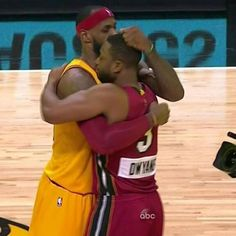 LeBron James and Dwayne Wade 12/25/2014