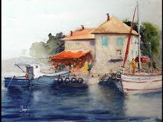 "Watercolor Tutorial ""Hanoi in The Rain"" by Minh Dam - YouTube"