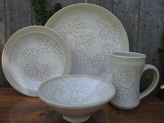 White Fern Dinnerware