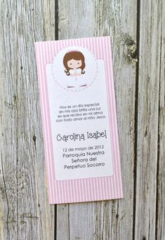 DIY Printable- Girl First Communion Favor Bookmark