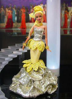 Barbie Miss Florida Ninimomo Barbie Gowns, Pageant Dresses, Barbie Doll, Miss Pageant, Botanical Fashion, Miss Florida, Barbie Miss, Barbie Basics, Dress Neck Designs