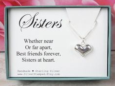 Gift for sister gift sterling silver necklace by SilverStamped